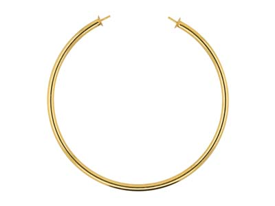 Gold Filled Open Bangle With 4mm   Cups And Pegs
