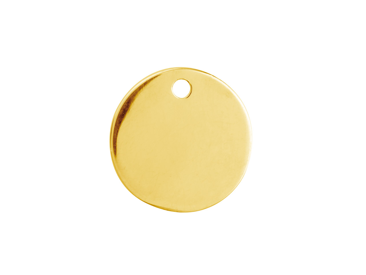 Gold Filled Round Disc 15mm        Stamping Blank