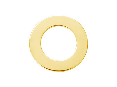 14ct Gold Filled Flat Washer 15mm