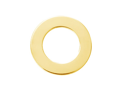 Gold Filled Flat Washer 20mm       Stamping Blank