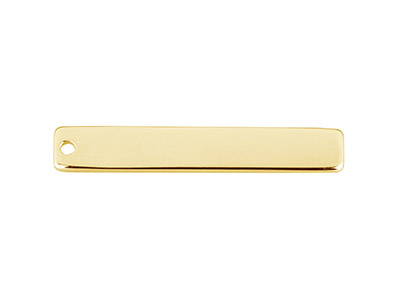 Gold Filled Rectangular Bar 30x5mm Stamping Blank