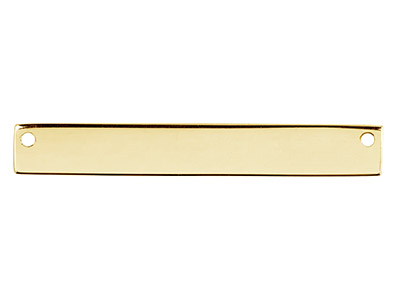 Gold Filled Rectangular Bar 40x6mm Stamping Blank