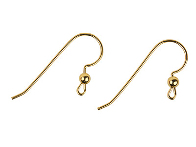 Gold Filled Ear Wire Bead And Loop Pack of 6