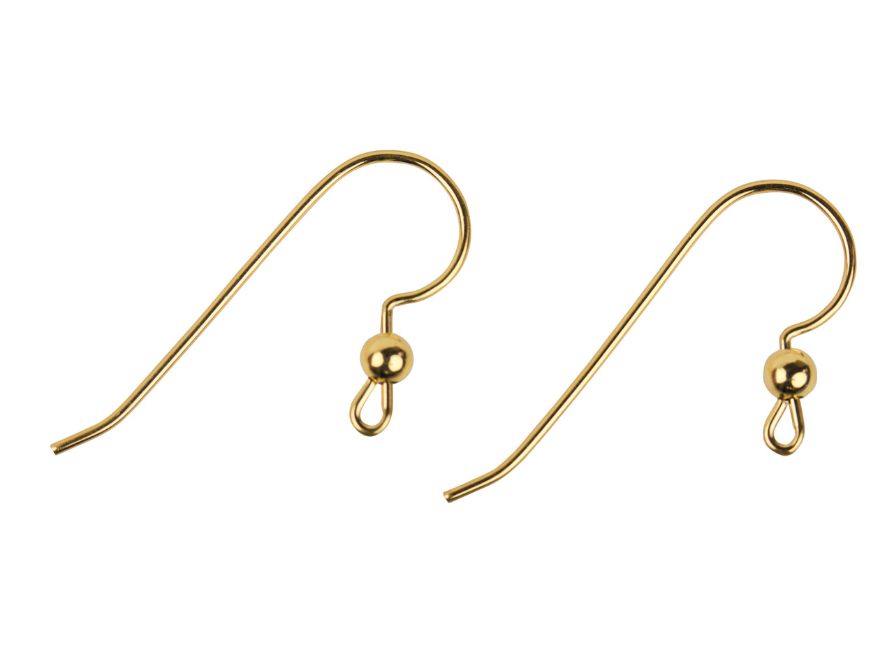 14ct Gold Filled Ear Wire Bead And Loop Pack of 6