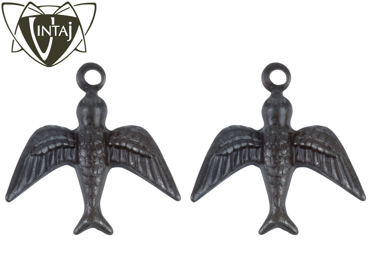 Pack of 2 Vintaj Arte Metal Watchful Bird