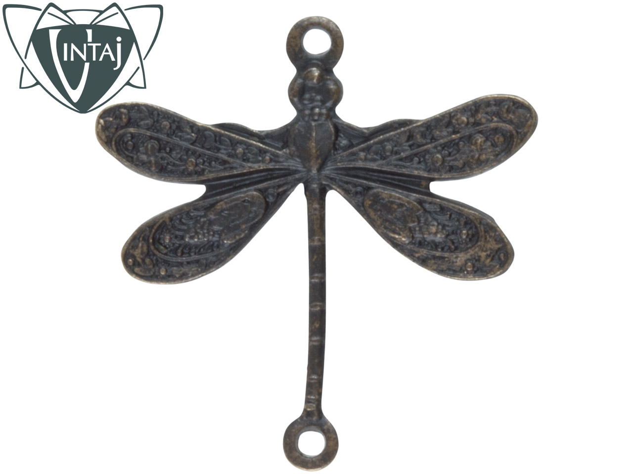 Vintaj Brass Dragonfly Pack Of 2