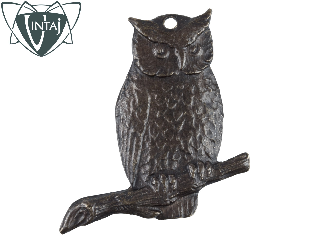 Vintaj Brass Perching Owl