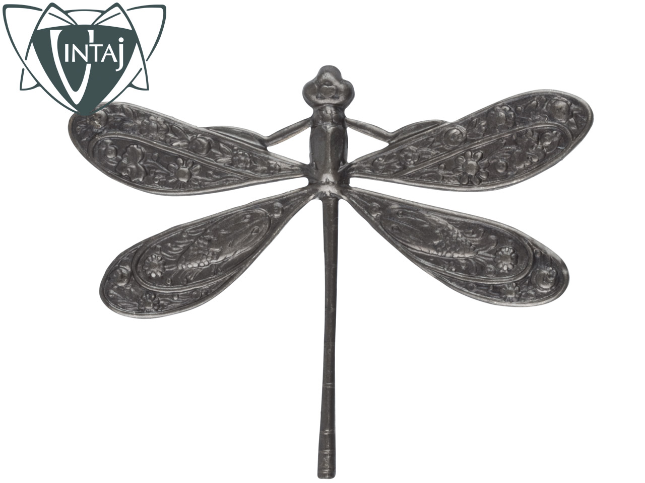Vintaj Brass Ornate Dragonfly