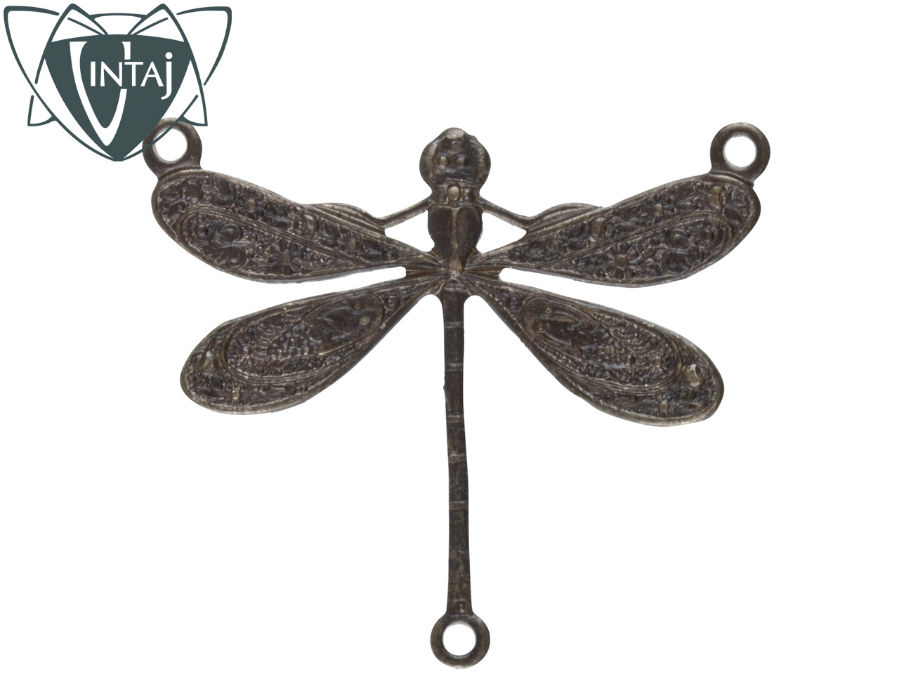 Vintaj Brass Dragonfly Connector