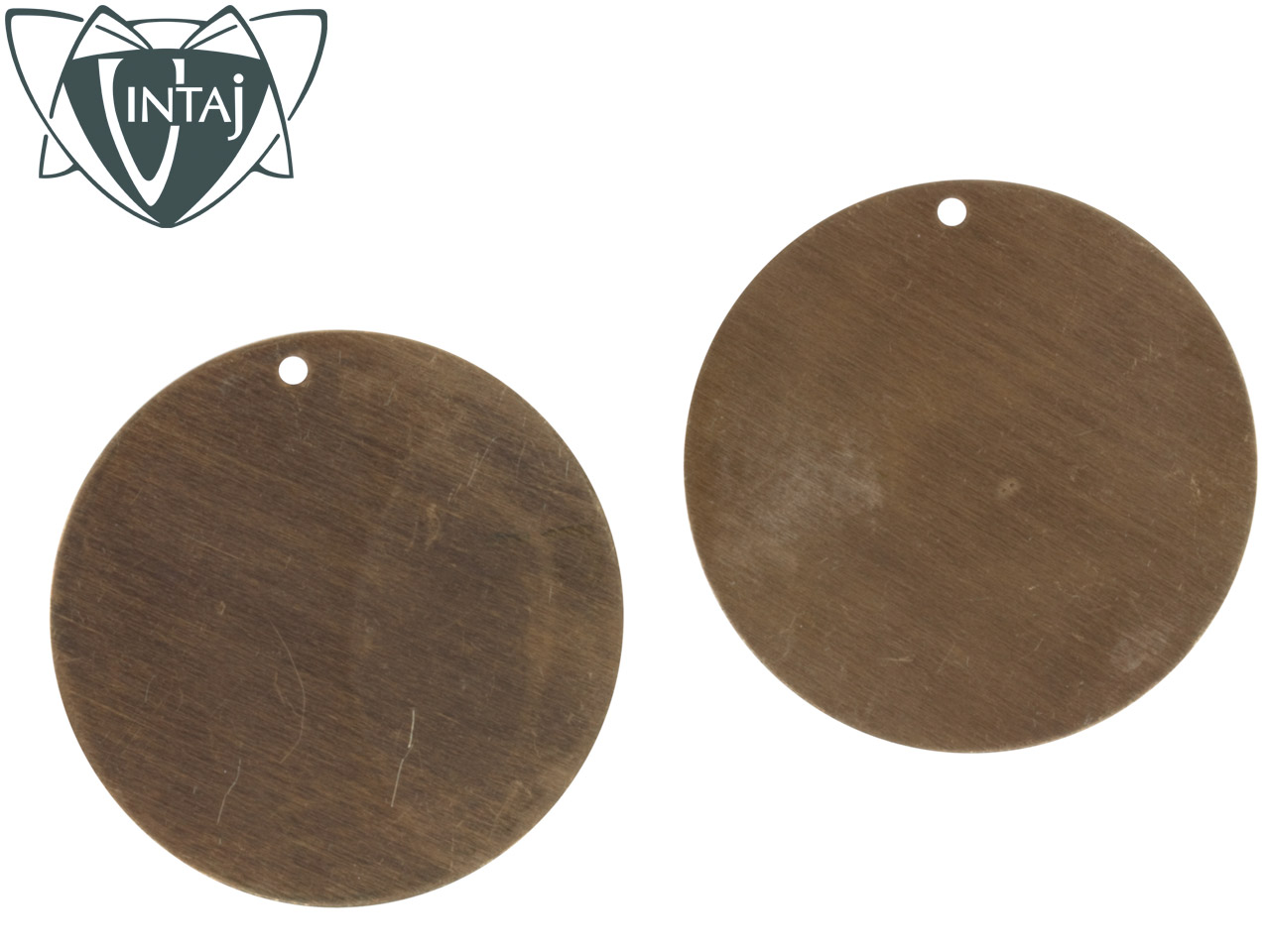 Vintaj Brass Altered Blank Circle 34mm Pack of 2