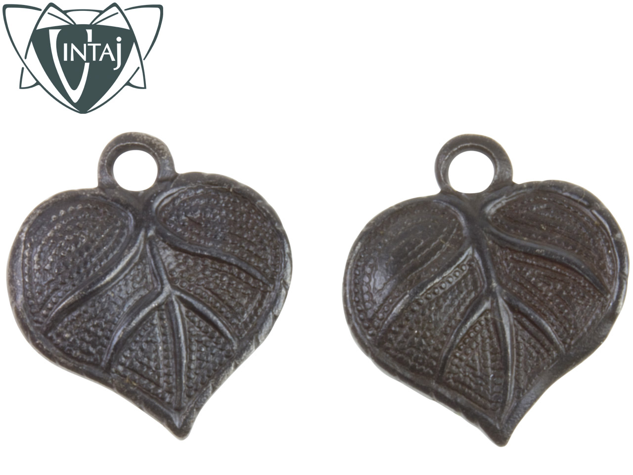 Vintaj Arte Metal Heart Leaf