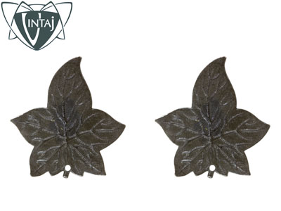 Vintaj Arte Metal Ancient Leaf 31.5x30.5mm Pack of 2