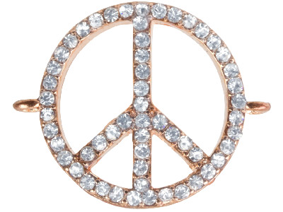 Rose Plated Peace Connector
