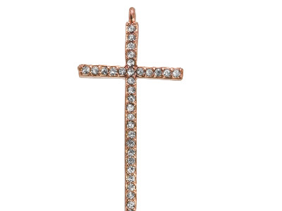 Rose-Plated-Base-Metal-Cross-------Co...