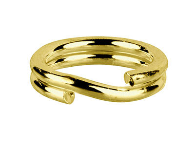 Base Metal Split Ring 4.5mm Brass  Raw Polished, Pack of 100,