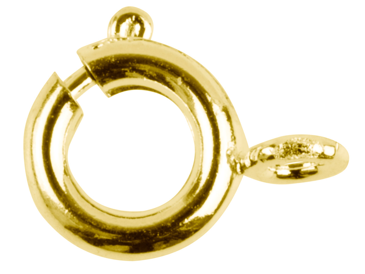 Gold Plated Bolt Rings 7mm         Pack of 10