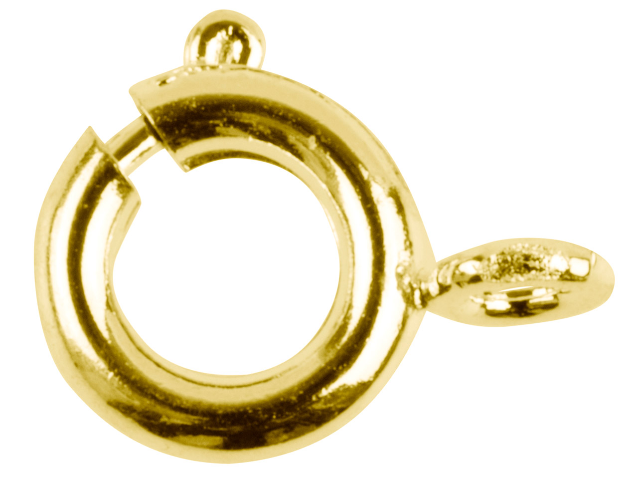 Gold Plated Bolt Rings 9mm         Pack of 10