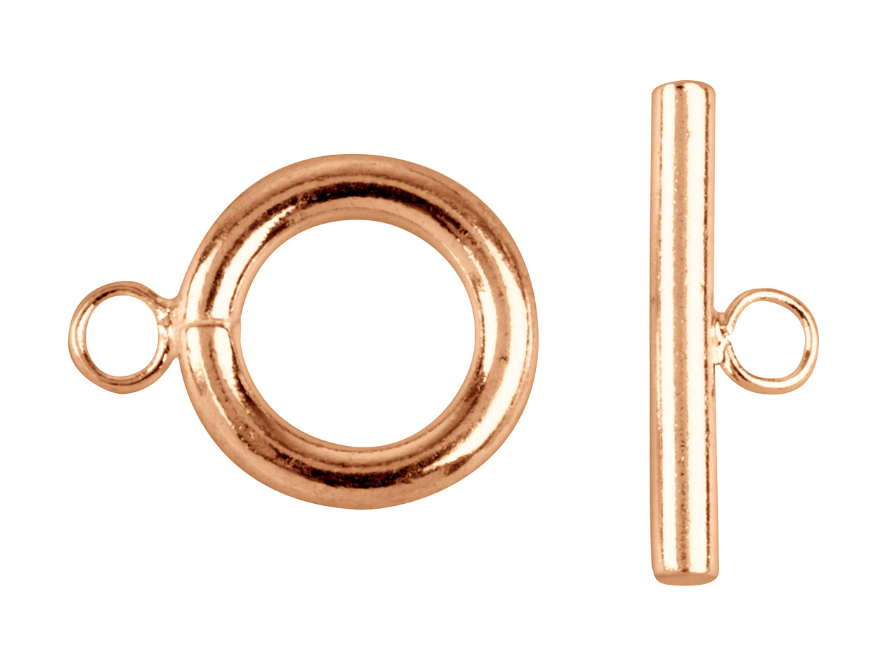Rose Gold Plated Ring And Toggle   Clasps Pack of 4