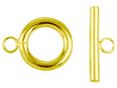 Pack of 6 Ring  Toggle Gold Plated