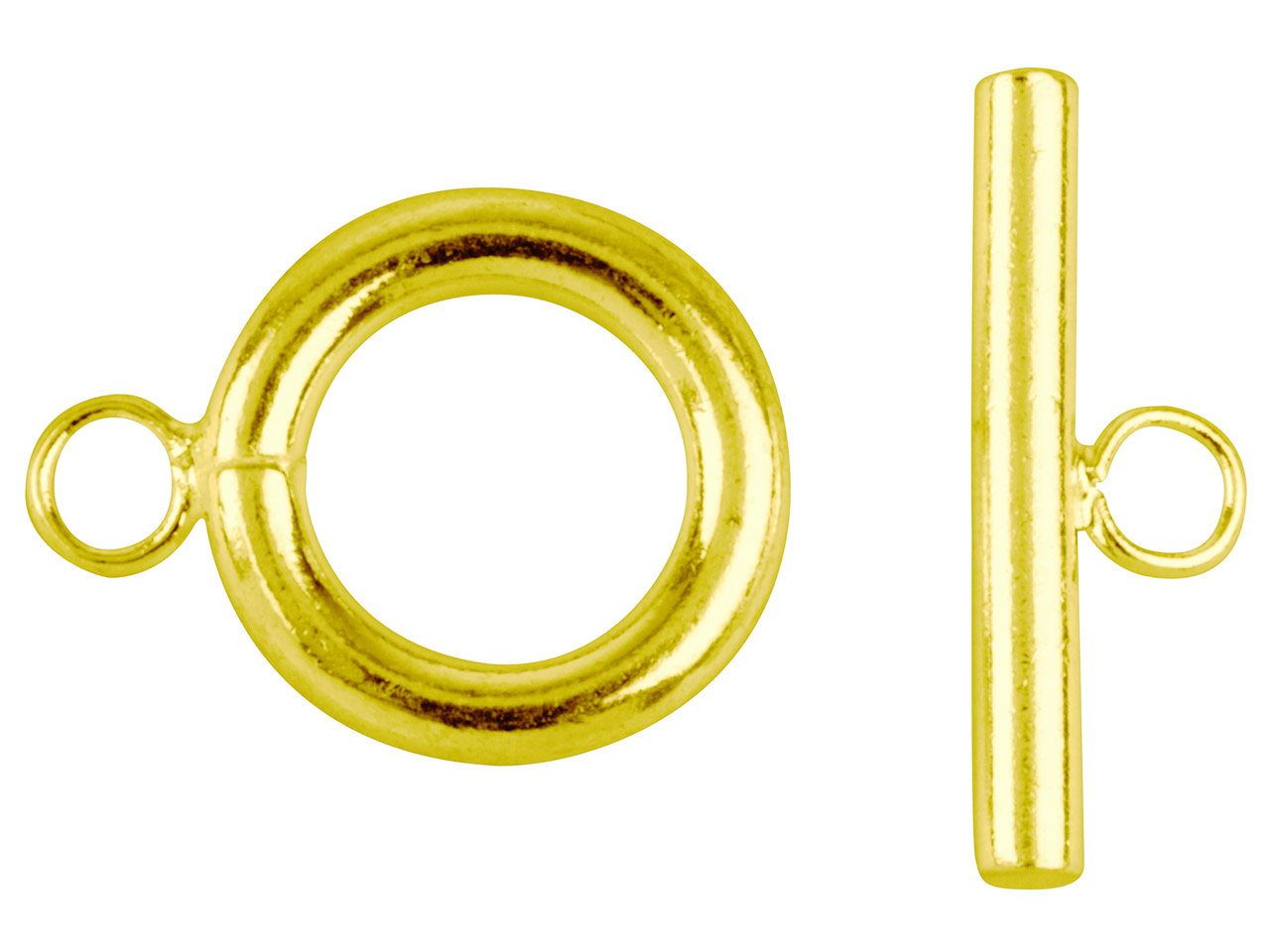 Gold Plated Ring And Toggles       Pack of 6