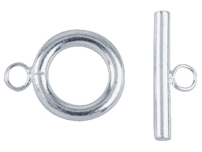 Pack of 6 Ring  Toggle Silver Plated