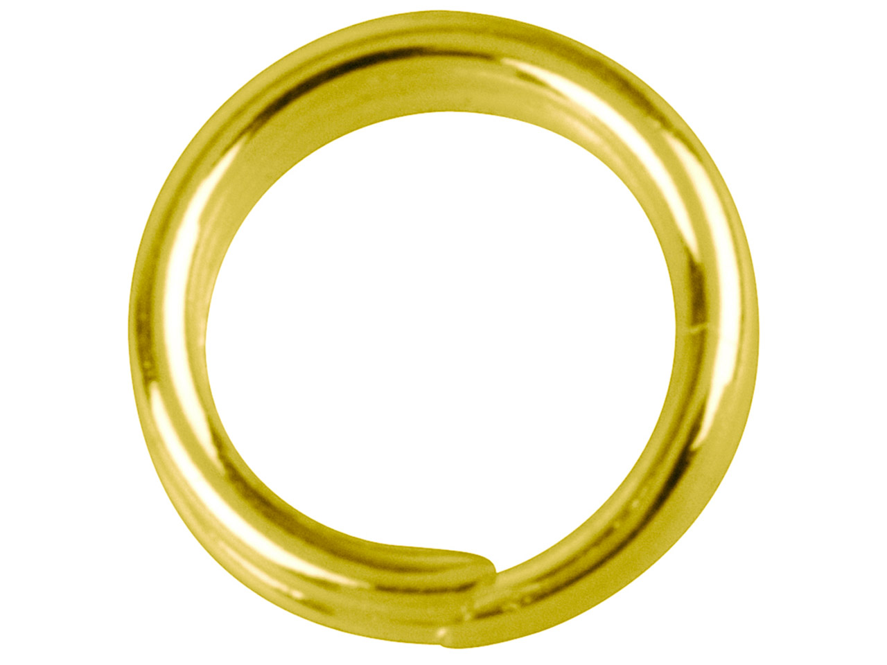 Gold Plated Split Rings 5.8mm      Pack of 20