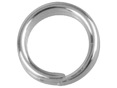 Pack of 20 5.8mm Split Rings Silver Plated