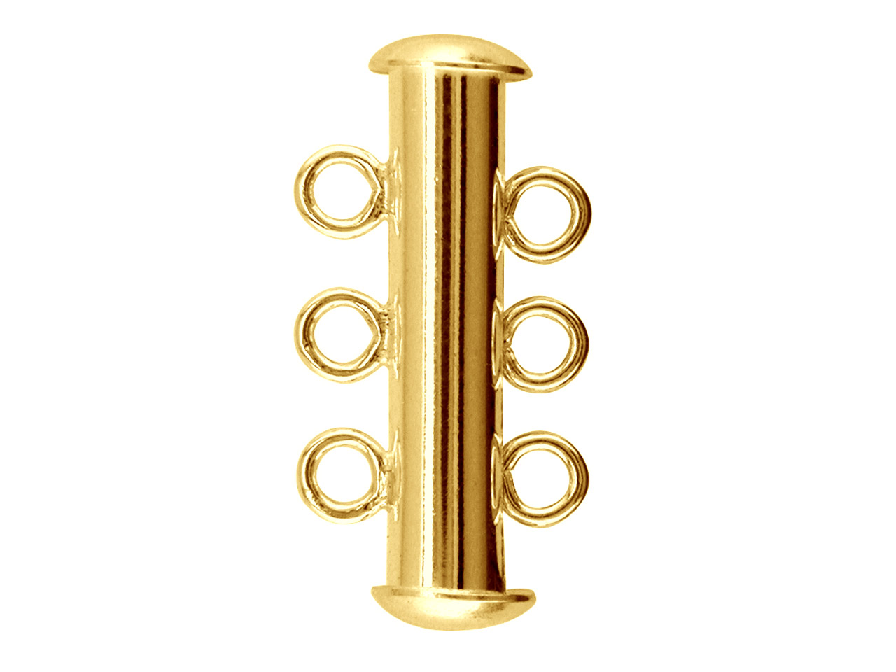 Gold Plated Slider Clasp Pack of 10 6 Loop