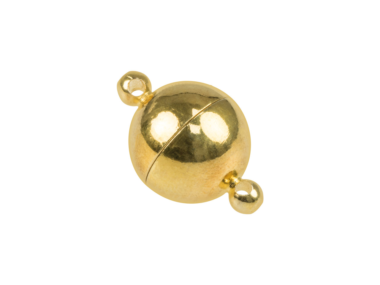 Gold Plated Extra Large Round      Magnet Clasp 14mm