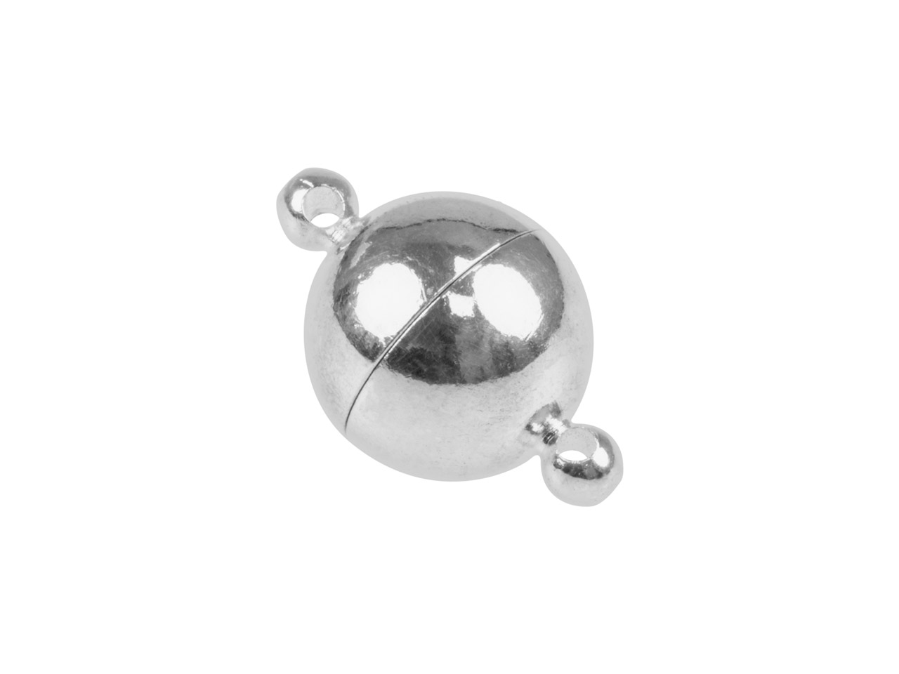 Silver Plated Extra Large Round    Magnet Clasp 14mm