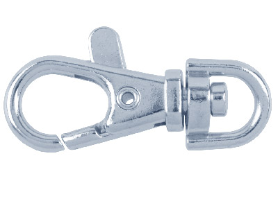 Nickel Plated 40mm Swivel Key Ring