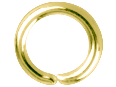 Gold Plated Jump Ring Round 4.5mm  Pack of 100