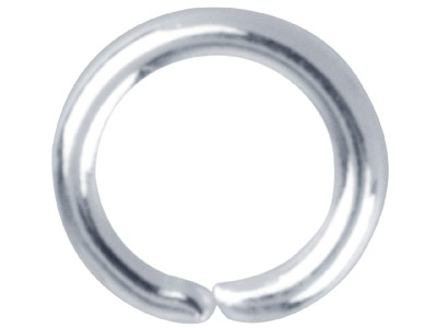 Pack of 100 4.5mm Round Jump Ring Silver Plated