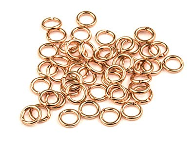 Rose Gold Plated Jump Ring Round   5mm Pack of 50 Gauge 0.95mm