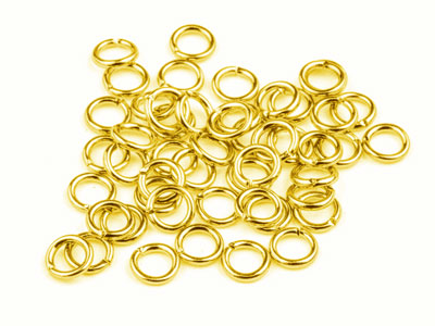Gold Plated Jump Ring Round 5mm    Pack of 100 Gauge 0.95mm