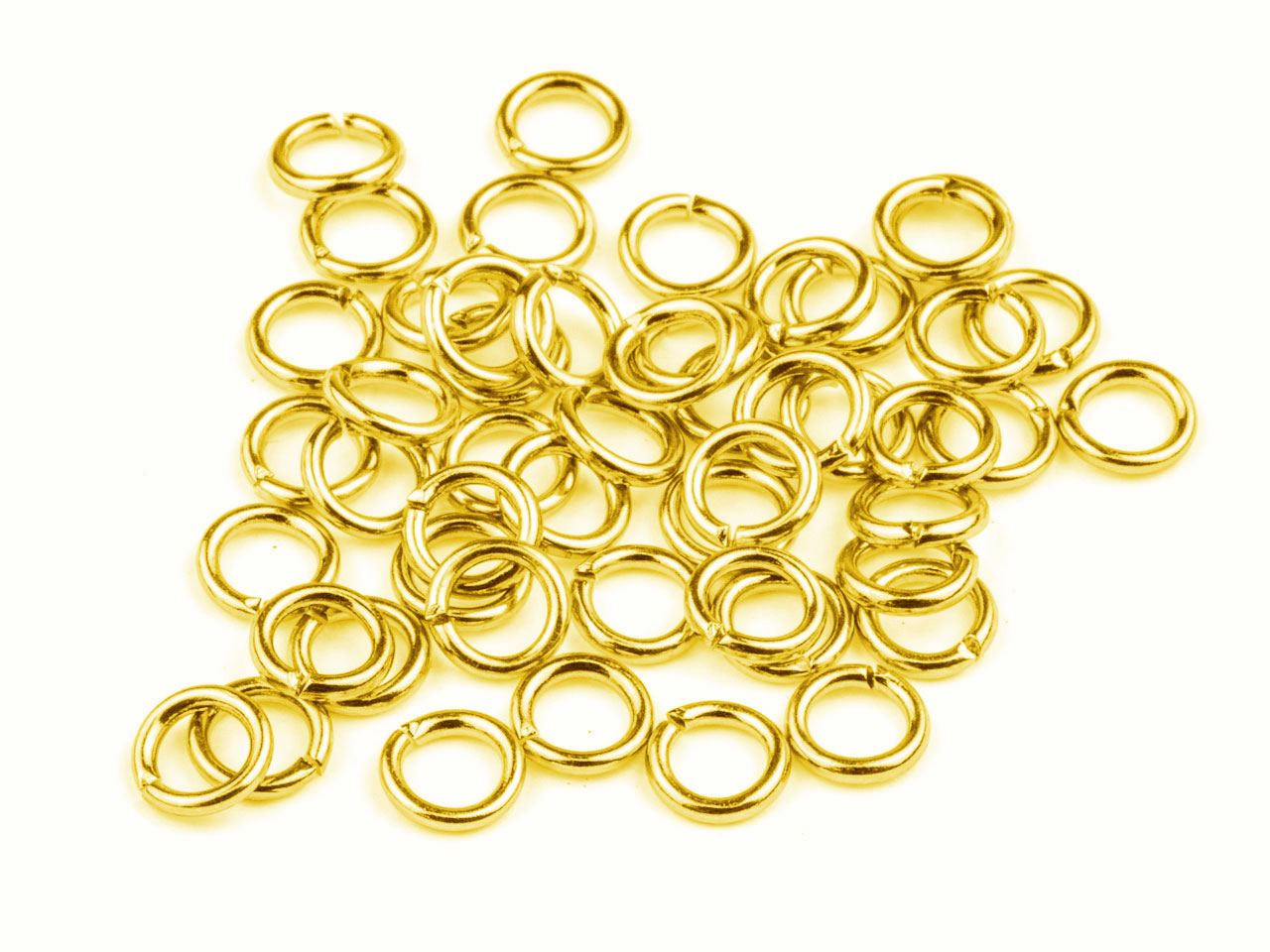 Gold Plated Jump Ring Round 5mm    Pack of 100, Gauge 0.95mm