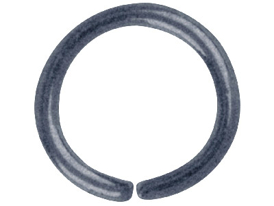 Pack of 100 7.0mm Round Jump Ring Antique Black