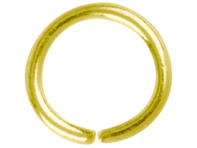 Gold Plated Jump Ring Round 7mm    Pack of 100
