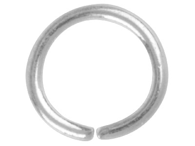 Pack of 100, 7.0mm Round Jump Ring Silver Plated