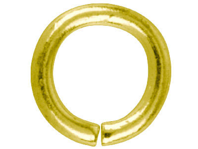 Gold Plated Jump Ring Round 7.5mm  Pack of 100,