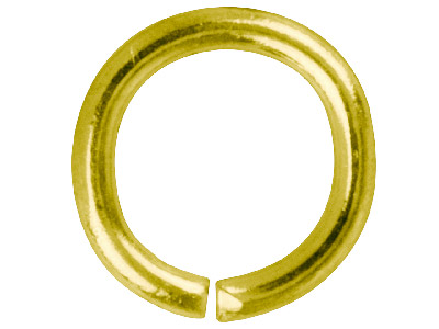 Gold Plated Jump Ring Round 8.8mm  Pack of 100,