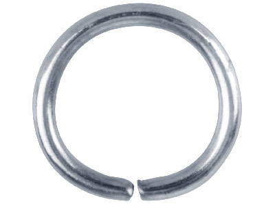 Silver Plated Jump Ring Round 10mm Pack of 100,