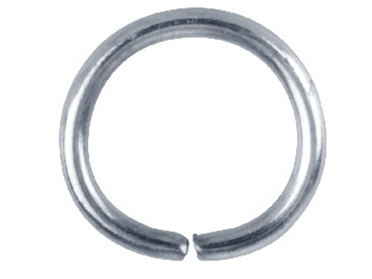 Silver Plated Jump Ring Round      12.5mm Pack of 100,