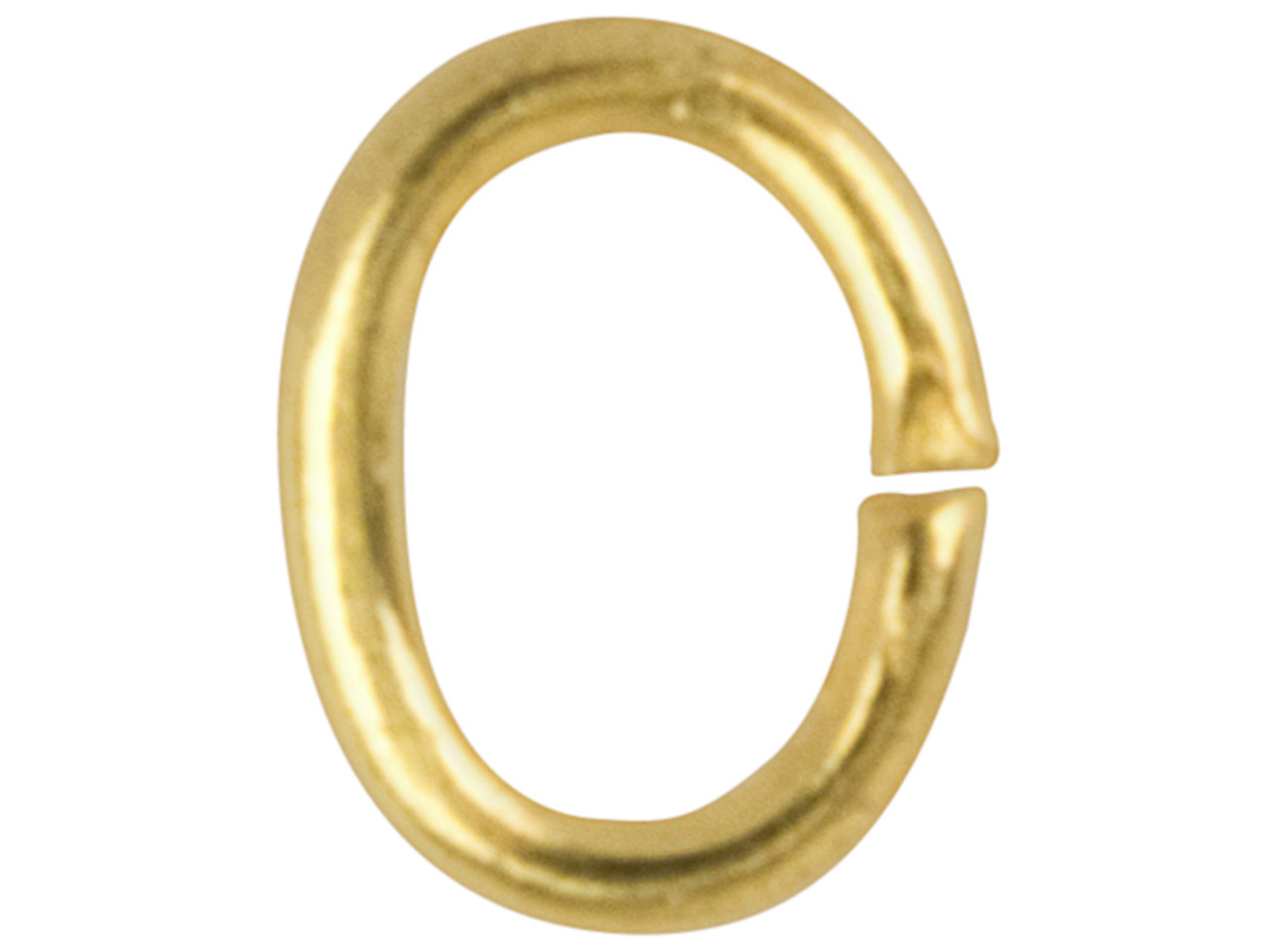 Gold Plated Jump Ring Oval 4mm     Pack of 100, 4mm X 3mm
