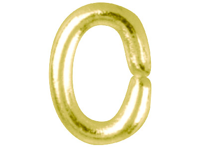Gold Plated Jump Ring Oval 5.5mm   Pack of 100,
