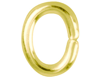 Gold Plated Jump Ring Oval 6mm     Pack of 100,