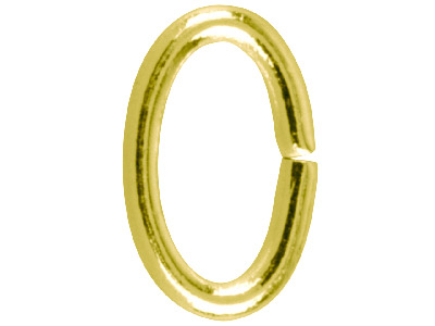 Gold Plated Jump Ring Oval 9.4mm   Pack of 100,