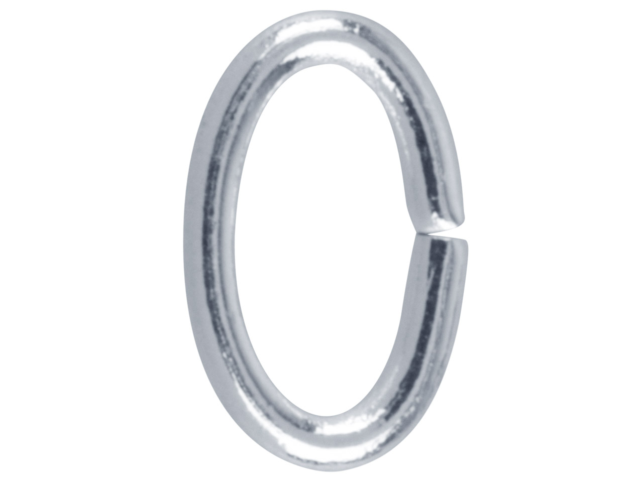 Silver Plated Jump Ring Oval 9.4mm Pack of 100,