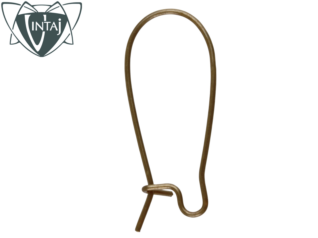 Vintaj Brass Arched Safety Hook Ear Wire Pack Of 4
