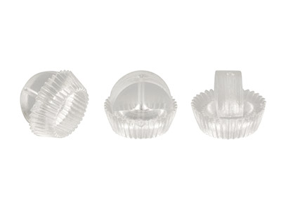 Plastic Ear Backs Pack of 100,